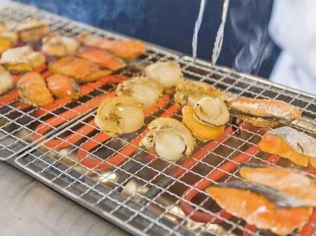 【朝食ビュッフェ/例】海鮮炙り焼きもご用意
