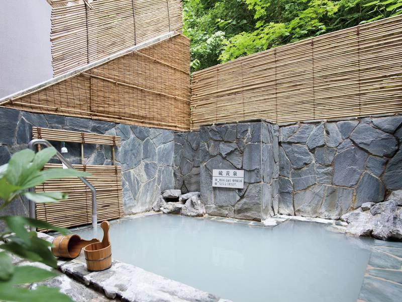 夏季限定の露天風呂