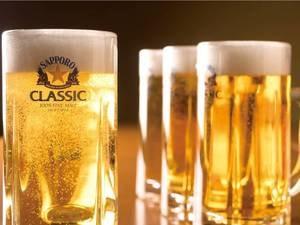 【飲み放題60分/例】ビールと焼酎(水割り・お湯割り)が夕食時に60分飲み放題!