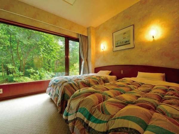 【特別和洋室・客室温泉付バリアフリー対応/例】バリアフリーで客室温泉風呂も完備