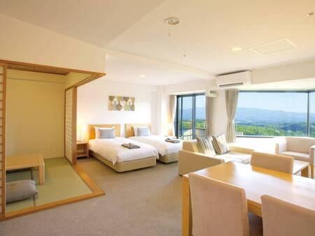 【客室/例】2LDKの和洋室(67~70平米+バルコニー)