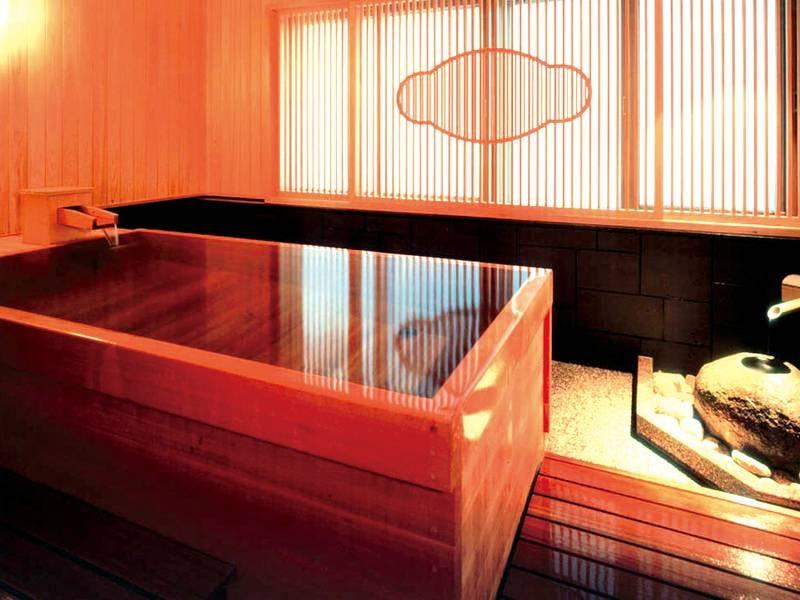 【貸切風呂】2F ○湯(まるゆ)・□湯(かくゆ) 12F 天の湯と3種ご用意