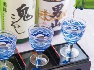 【利き酒セット】夕食時に地酒3種を飲み比べ!こだわりのお料理とご一緒にどうぞ。(※別注)