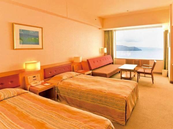 【洋室(28~29㎡・眺望指定なし)/例】ソファーベッド利用で3名まで宿泊可能なツインルーム
