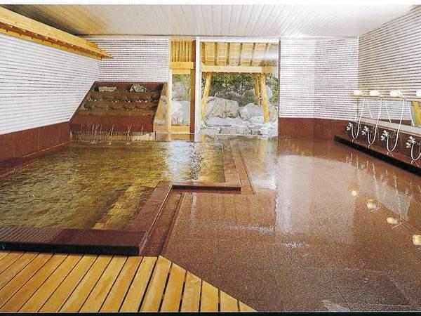 【大浴場】湯量も豊富で泉質ph8.1の源泉をかけ流しをご堪能下さい