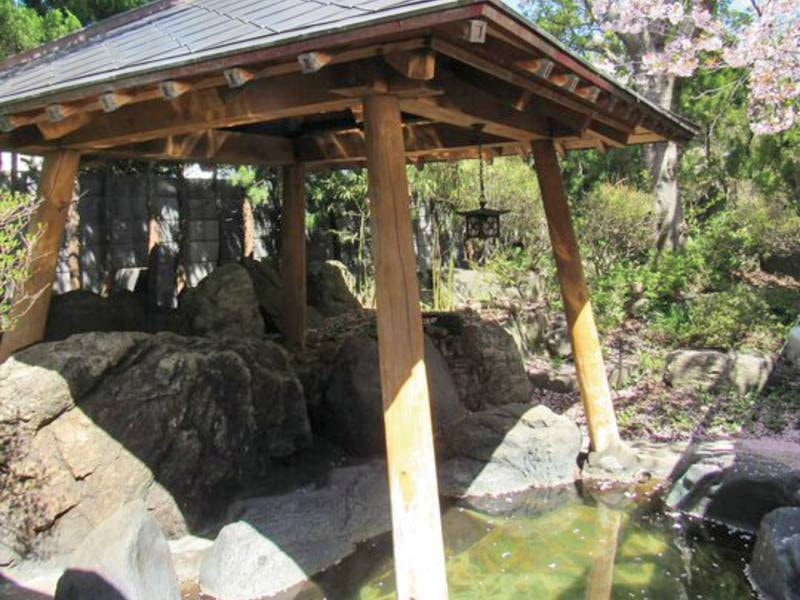 【露天風呂(春)】桜を愛でながら、湯ったり露天に浸かる贅