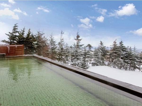【雪見の露天風呂】ミネラル成分たっぷりの鰺ヶ沢温泉と圧倒的な解放感の絶景をご堪能下さい