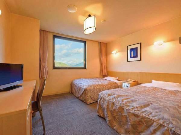 【客室/一例】山側洋室ツイン21㎡/ベッドタイプで機能的なお部屋