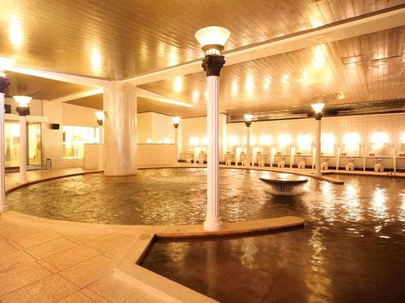 【洋風浴場「カルデラ」】まるで古代神殿のような浴場