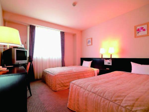 [客室/例] 広いベッドとバスタブが人気のツインルームへご案内