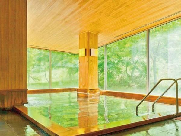 【御婦人用大浴場】開放感があり広々とした大浴場「鶴の湯」