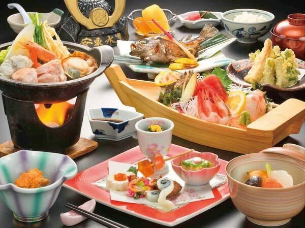【幻の魚『イトウ』御膳(竹)/例】熟達された料理人が、真心こめて調理した旬の味覚を堪能
