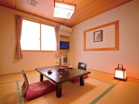 【客室/例】津軽の旅を満喫したら、お部屋でゆっくりと。清潔感のある8畳の和室へ