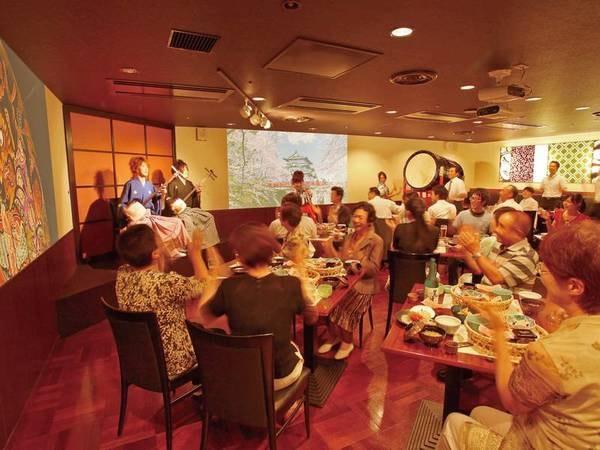 【津軽三味線ダイニング 響 】大迫力の津軽三味線生ライブを愉しみながらお食事をご堪能頂けます。※月曜日・年末年始はお休み