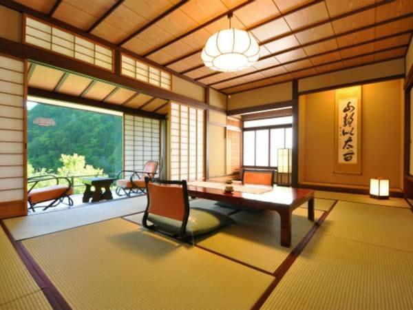 介山荘一般客室◇和室10畳+広縁/一例