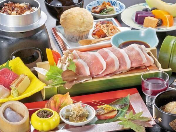 【八幡平ポーク御膳/例】八幡平ポークあいの鍋など約11品ほど