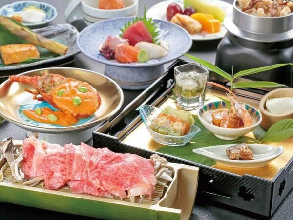 【いわて牛・伊勢海老の贅沢ご膳/例】伊勢海老といわて牛がいただける贅沢なご夕食!