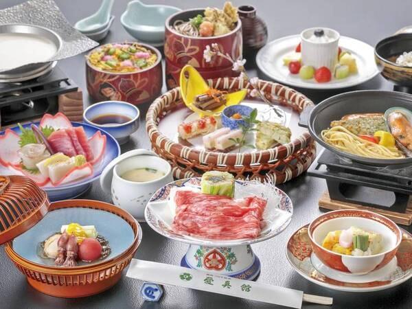 全18種の湯めぐり満喫プラン/夕食一例(※状況により会席になる場合あり)