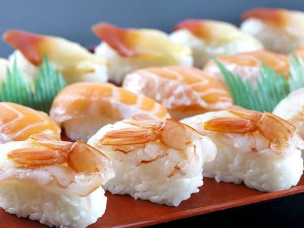【夕食/例】お寿司の握りも食べ放題