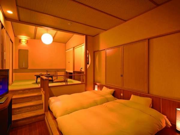 [客室/例] 最上階4階、天井も高く優れた開放感 ※三段程の階段差あり