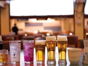 70分飲み放題/イメージ。生ビール・日本酒・焼酎・角ハイボール・グラスワイン・梅酒など
