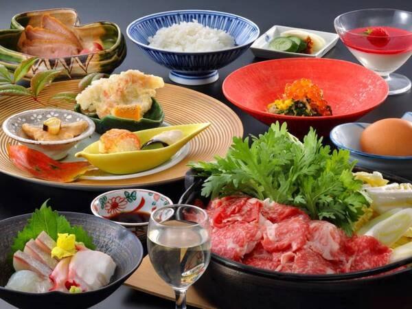 【夕食/例】囲炉裏料理をお鍋を中心にカジュアルなスタイルでいただく