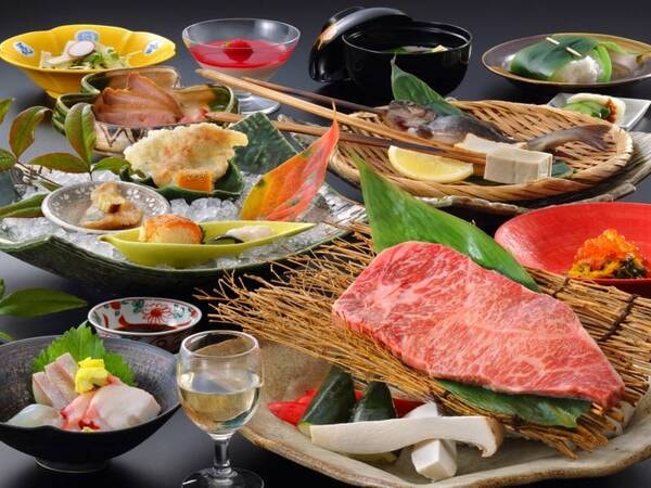 【夕食/例】岩手県産黒毛和牛ステーキを伝統工芸品・南部鉄器を使って食す