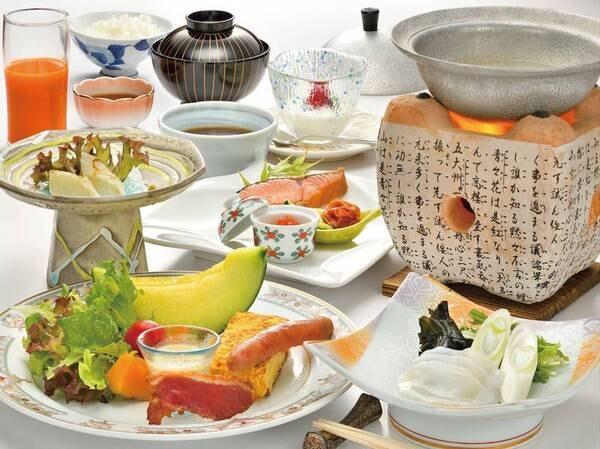 【ご朝食/例】地場食材にこだわった和朝食。一日の始まりを応援する朝食メニューです