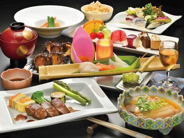 【ご夕食/例】三陸で獲れる新鮮な海産物を素材本来の味を最大限に活かした和洋創作料理でご提供