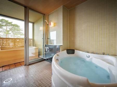 【[次郎の庵・3階]16帖/例】客室には内風呂と露天風呂がございます。 ※温泉ではございません