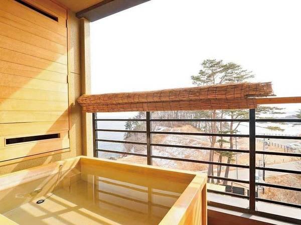 【[次郎の庵・3階]16帖/例】客室露天風呂からの眺め ※温泉ではありません