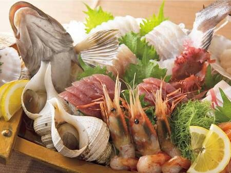 【三陸大自然の恵みビュッフェ/例】新鮮なお刺身を堪能