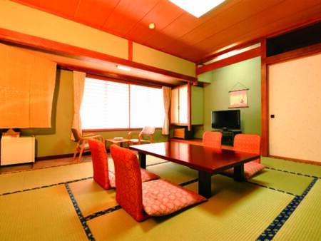 [客室/例] 全室バス・洗浄トイレ付。定員5名。広々としたゆとりの10畳和室