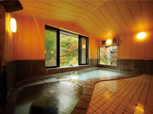 【浴場/夢の湯】泉質異なる2種類の湯を堪能。「温浴」「ぬるま湯」でお楽しみ頂けます