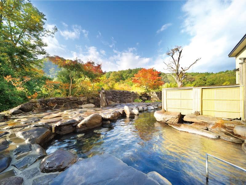【大露天/混浴】夏油渓谷の景観を眺める