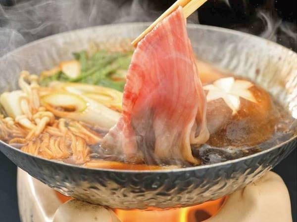 【前沢牛すき煮/例】ブランド牛である前沢牛をすき煮で頂ける上質な味に舌鼓