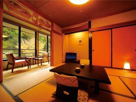 [客室/例] 「静寂を愉しむ…」、洗浄機能トイレ付・広縁付の8畳和室へ