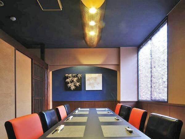 【食事会場(個室)】夕食が550円増で個室会場に変更可能!