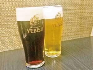ヱビスプレミアム  ブラックと通常のヱビスビールを飲み比べ