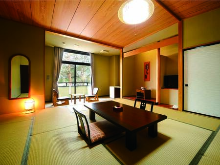 [客室/例] 準和風タイプの12.5畳和室へご案内、定員5名