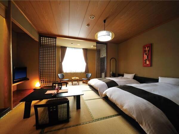 [客室/例] 畳にローベッド、数量限定人気の客室につきお早めに