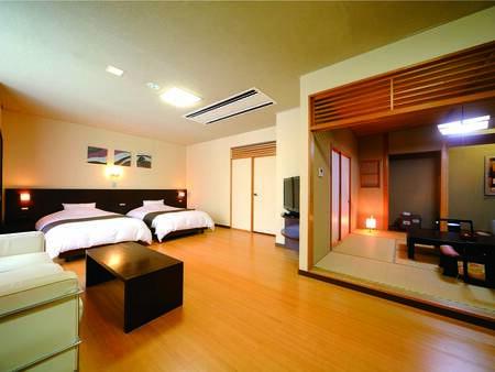 [客室/例] 和室+ツインで、旅行をちょっと贅沢に。シャワールーム、洗浄トイレ付