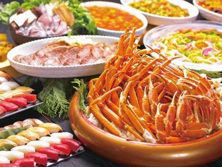 【夕食/例】蟹や八幡平の郷土料理などの大人も子どもも楽しめる食べ放題バイキング
