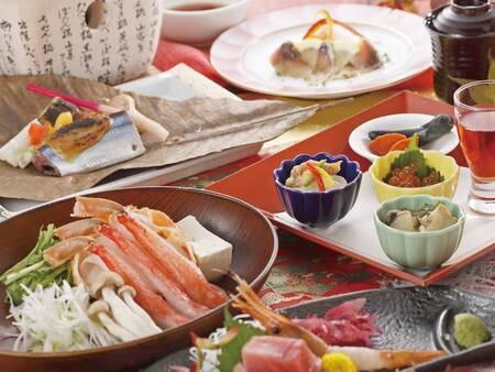 【夕食/例】季節の海の幸付会席。新鮮魚介の夕食