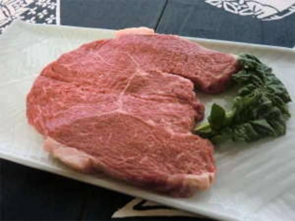 岩手牛の特大ステーキ500g以上付御膳/一例