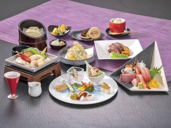 【夕食/例】特選会席・雅/6・7・8月の料理イメージ