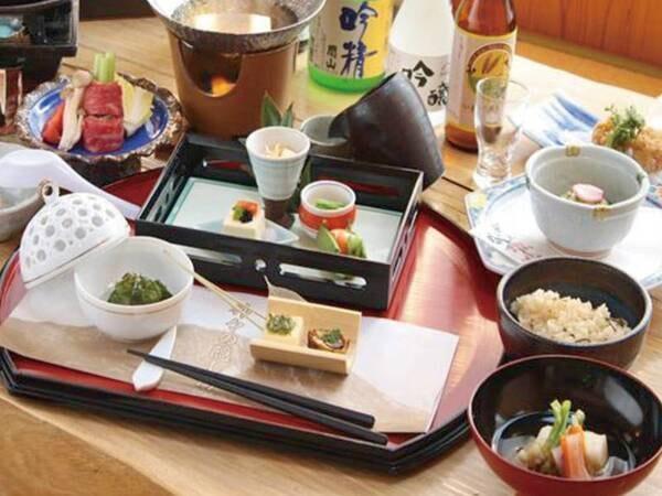 旬の味覚会席/例。その日仕入れた旬の食材をご提供