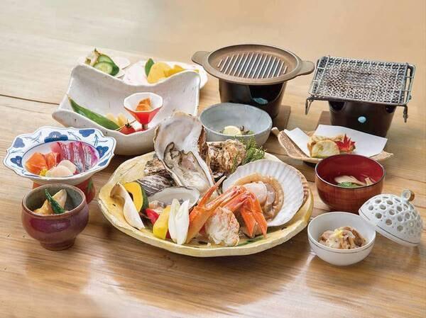 【松】三陸海の幸陶板焼きと季節のお料理/例