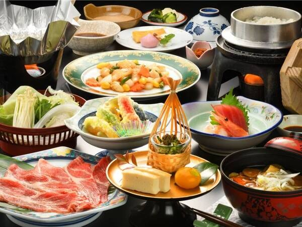 お手軽会席夕食/例。宿こだわりの逸品を旬の食材とともに