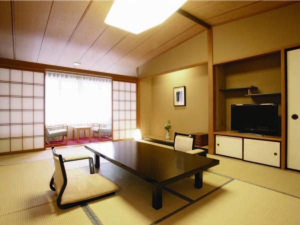 [客室/例] 12畳+踏込、ゆったりと落ち着く和室、内湯には檜の湯船も